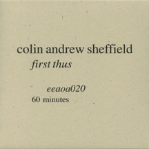 eeaoa020  colin andrew sheffield  first thus